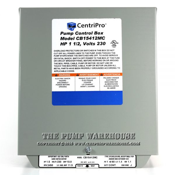 CentriPro Magnetic Contactor Control Box | 1.5 HP -  230V
