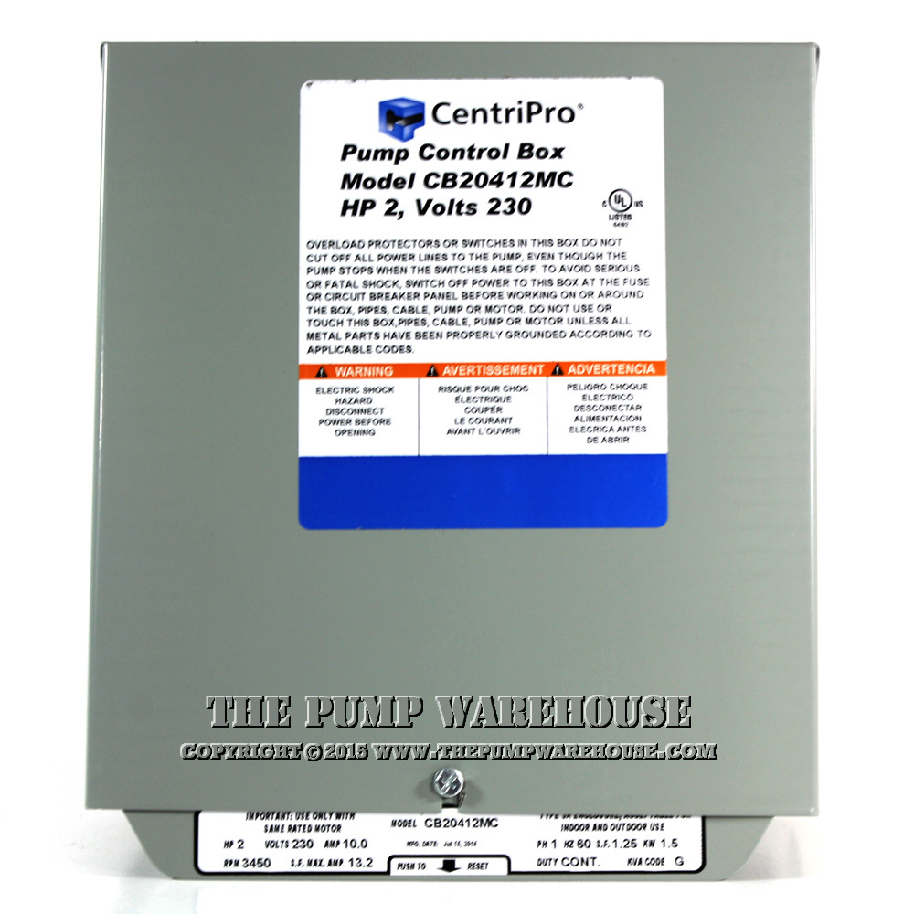 Centripro Magnetic Contactor Control Box 2 Hp 230v Franklin Electric Parts