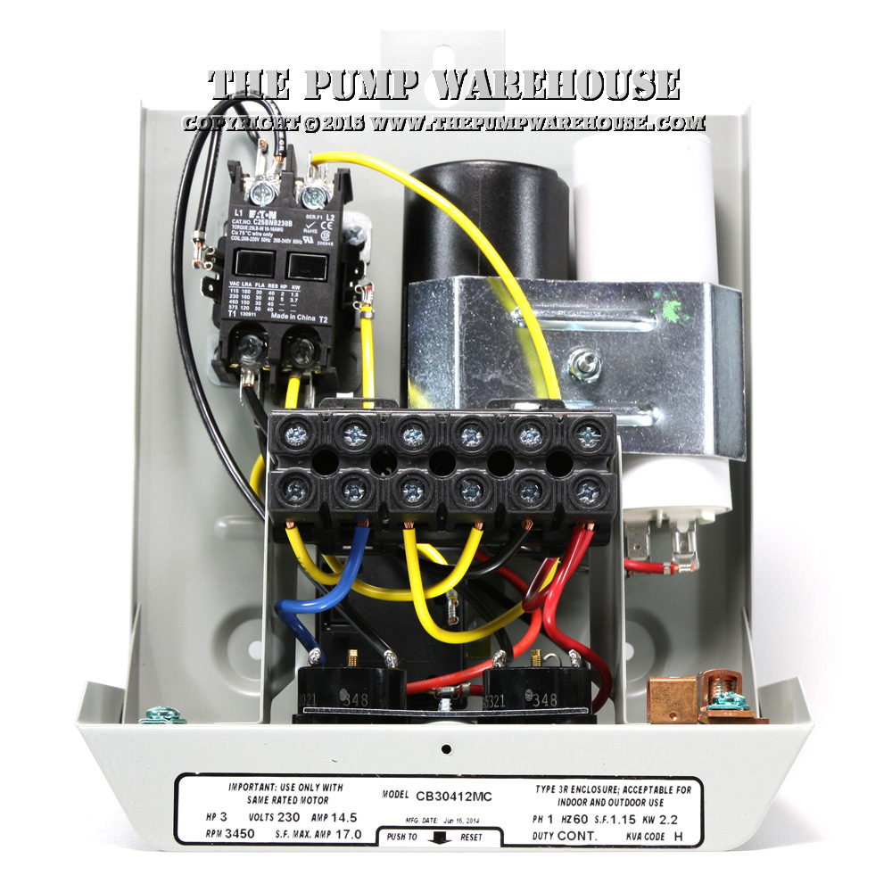 Centripro Magnetic Contactor Control Box 3 Hp 230v Phase Wiring Inside