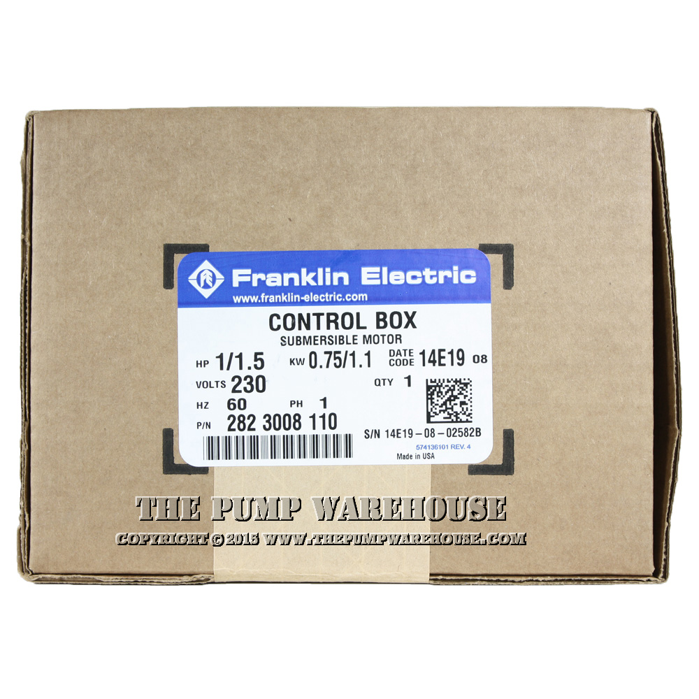 Peachy Franklin Electric Standard Control Box 1 1 2 Hp 230V Wiring Digital Resources Funapmognl