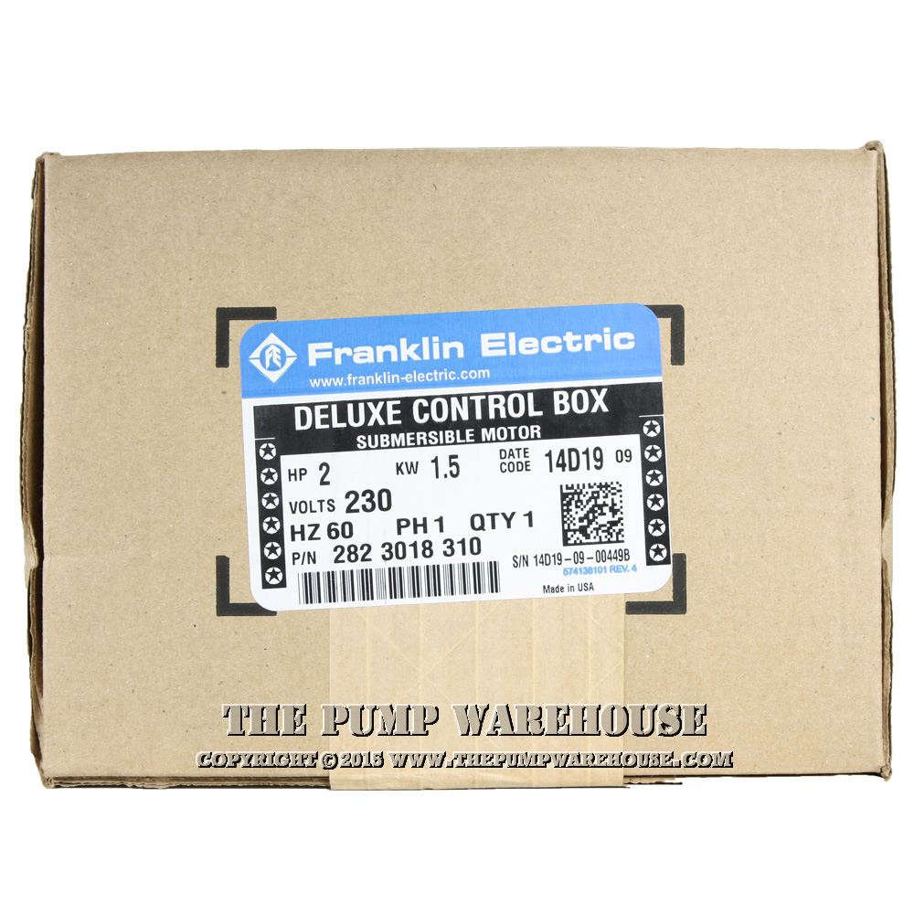 Franklin Deluxe Control Box 2 Hp 230v Electric Qd Wiring