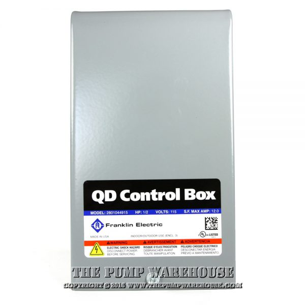 Franklin QD Control Box | 1/2 HP - 115V