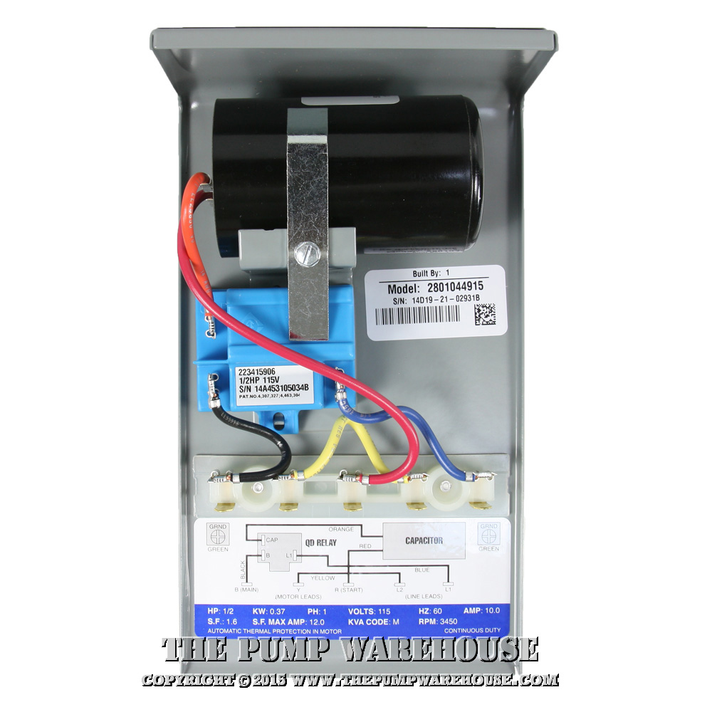 franklin qd control box | 1/2 hp - 115v  the pump warehouse