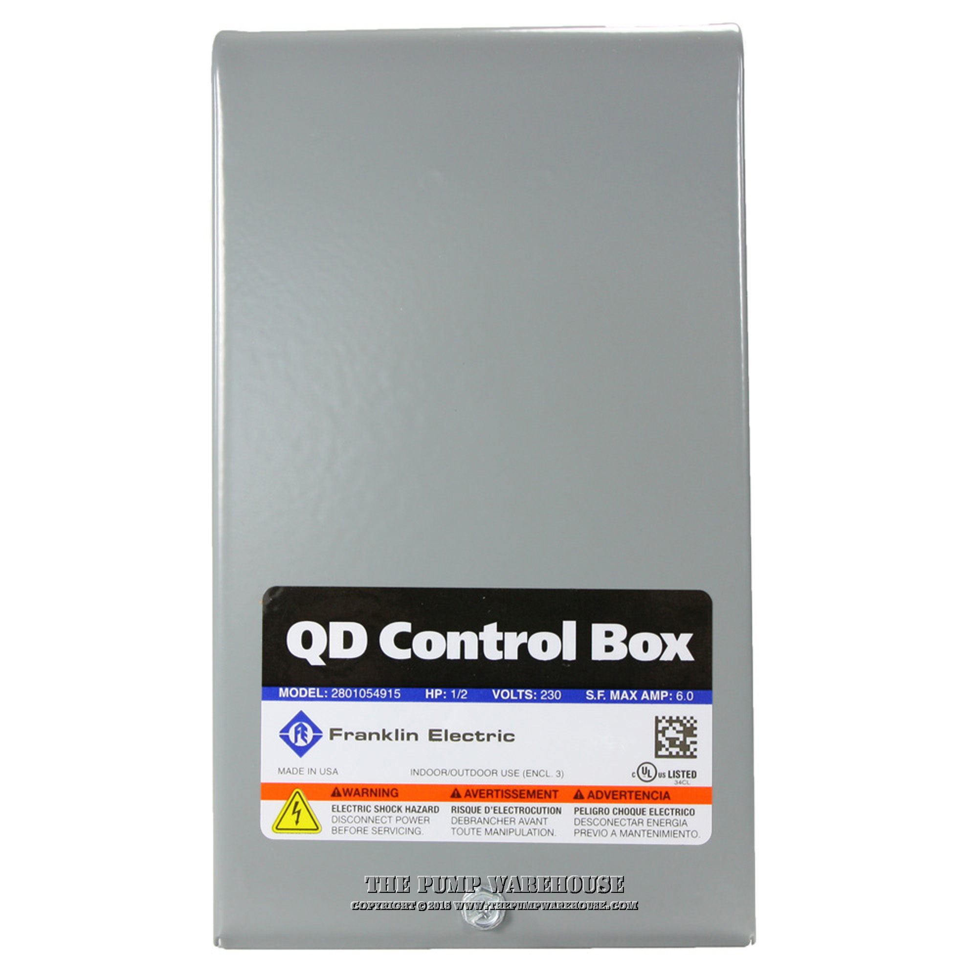 Franklin QD Control Box | 1/2 HP - 230V