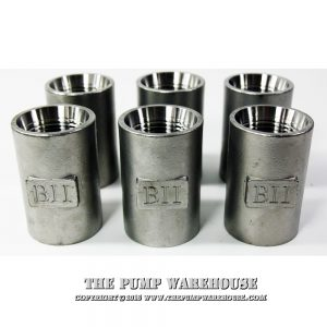 "1 1/4"" Stainless Steel Drop Pipe Coupling (6)"