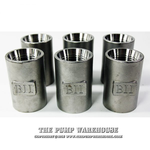"""1 1/4"""" Stainless Steel Drop Pipe Coupling (6)"""